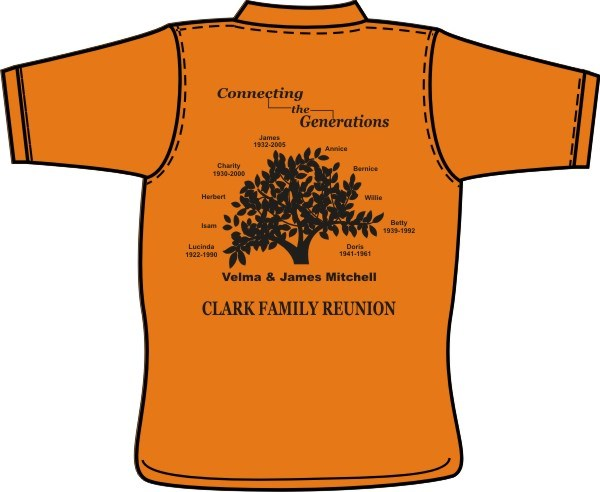 Embroidered impressions family reunion shirts vacation for T shirt printing norcross ga