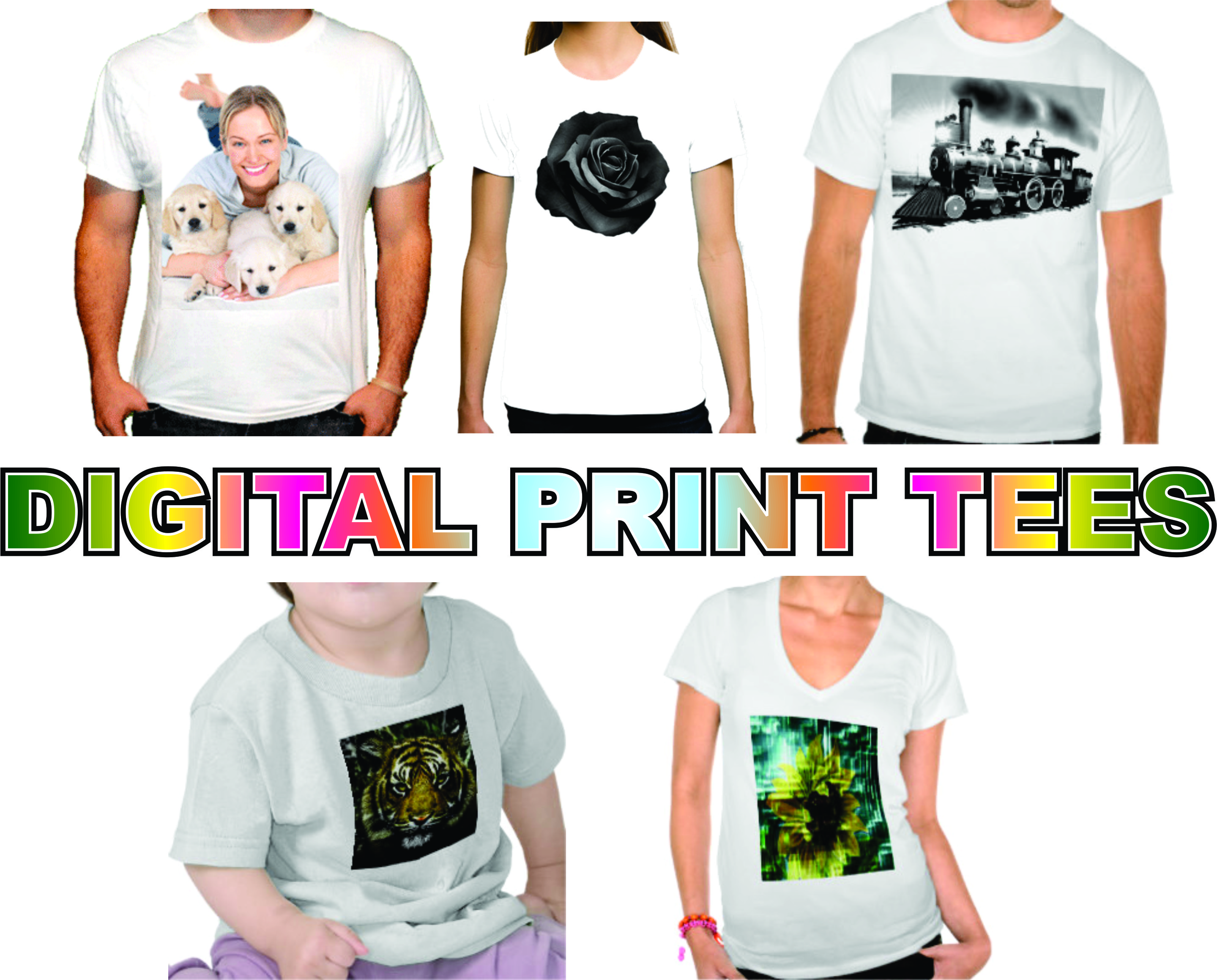 digital print tees
