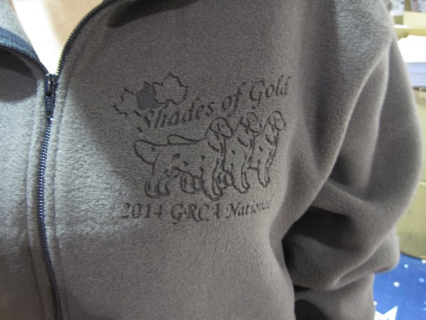 etched fleece dogs