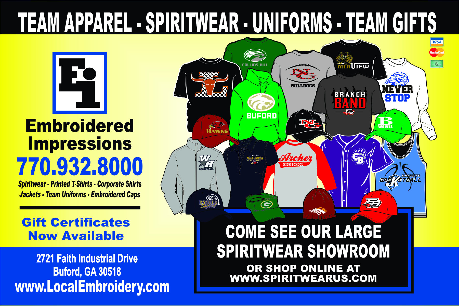 School Spiritwear and Uniforms