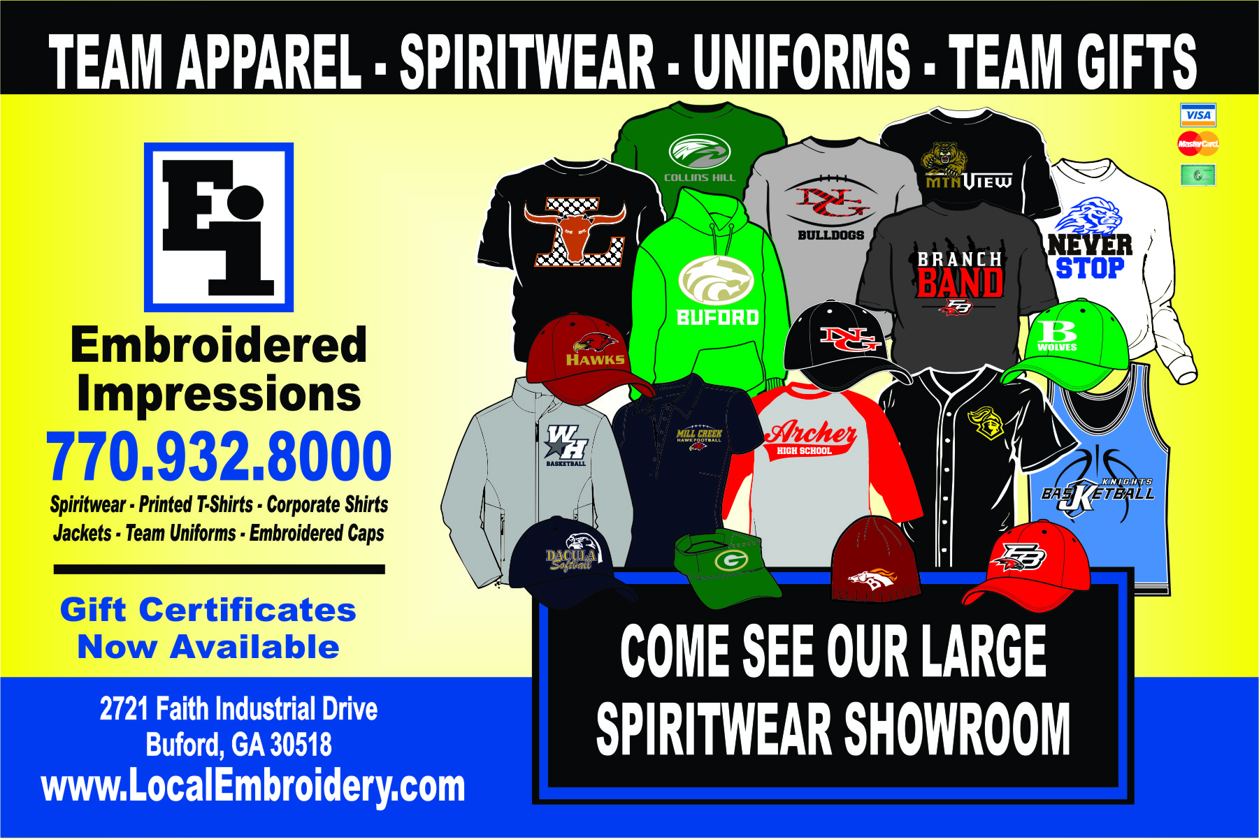 Embroidered Impressions | Custom Embroidery | ScreenPrinting