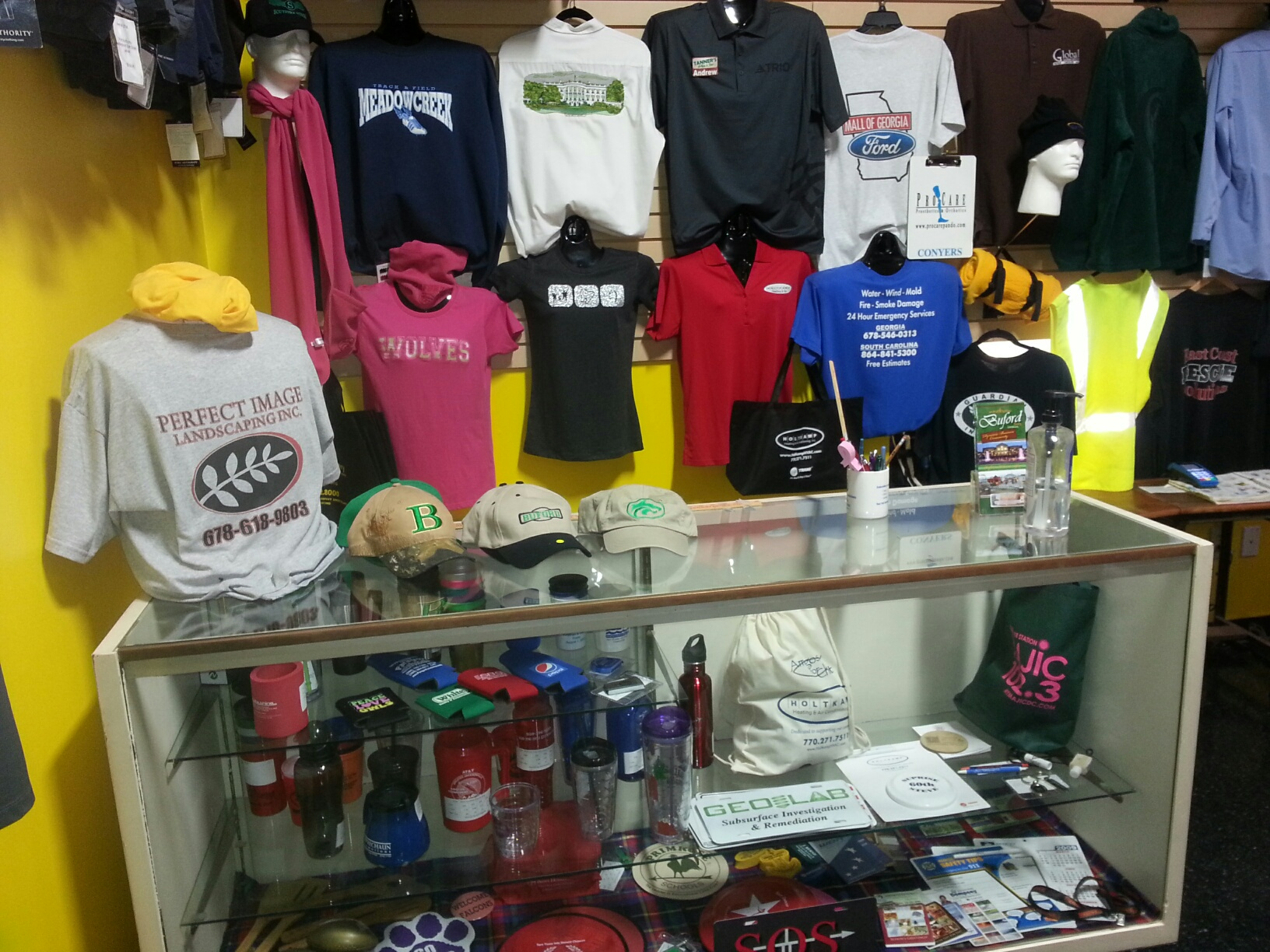 Embroidered impressions personalized apparel monograms for T shirt printing norcross ga
